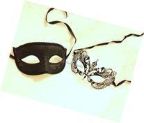 Masquerade mask for men and women Laser cut metal masquerade