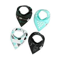Matimati Baby Bandana Bib Set of 4, Super Absorbent Drool