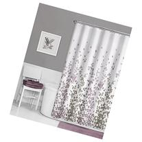 Maytex Sylvia Printed Faux Silk Fabric Shower Curtain,