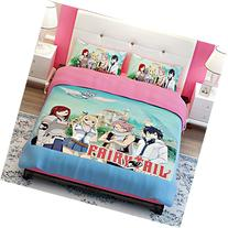 MeMoreCool Fairy Tail Anime Bedding Sets Kids Clubhouse