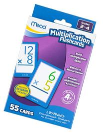Mead 63024 Multiplication Flashcards, 55 Cards, Grades 2-4