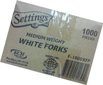 Medium Weight White Forks 1000 Pieces