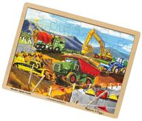 Melissa & Doug Construction Vehicles Wooden Jigsaw Puzzle