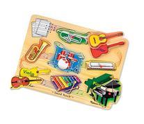 Melissa & Doug Musical Instruments Sound Puzzle - Wooden Peg