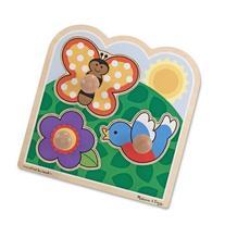 Melissa & Doug In The Garden Jumbo Knob Wooden Puzzle -