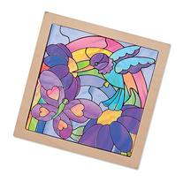 Melissa & Doug Stained Glass See-Through Window Art Kit: