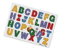 Melissa & Doug See-Inside Spanish Alphabet Wooden Peg Puzzle