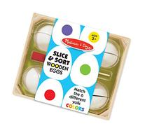 Melissa & Doug Slice & Sort Wooden Eggs  - Play Food
