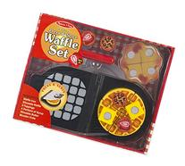 Melissa & Doug Press and Serve Wooden Waffle Set  - Play