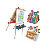Melissa and Doug Easel And Paint Accessory snd Smock Bundle