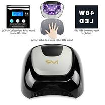 MelodySusie 48W LED Nail Lamp - Smart Gel Nail Dryer with 3