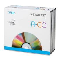 Memorex Blank Cd-R Video 80 Min 700 Mb Shrinkwrapped 10/Pack