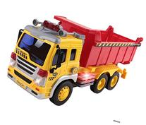 Memtes Friction Powered Dump Truck Toy with Lights and Sound