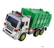Memtes Friction Powered Garbage Truck Toy with Lights and