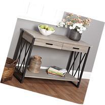 Metro Shop Seneca XX Black/ Grey Reclaimed Wood Sofa Table