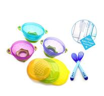 MiChef Stay Put Suction Bowl, Spill Proof, Baby Bowls with