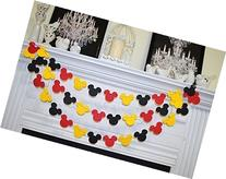 Mickey inspired garland, Birthday decor, red black yellow