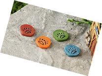 Miniature Garden Paw Print Stepping Stones, 4 Assorted