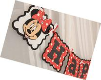 Minnie Mouse Customized Age themed Happy Birthday Banner.