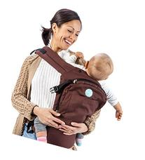 Mo+m Ergonomic Baby Sling Carrier w/ Mesh Cooling Vent, Hood