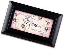 Mom Matte Black Petite Music Box / Jewelry Box Plays