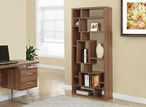 Monarch Specialties Bookcase - 72H / Walnut - 14 Compartment