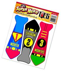 Month Stickers for Baby Boy | Super Hero Neck Tie | Use