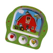 Motorhead Products John Deere Eat Your Veggies Kid's Plate