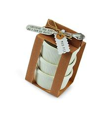 Mud Pie Circa Ramekin Set, White