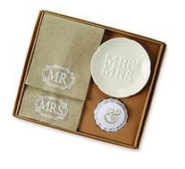 Mud Pie Mr. and Mrs. Soap and Towel Set