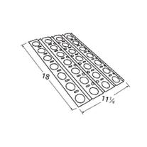 Music City Metals 92551 Stainless Steel Heat Plate
