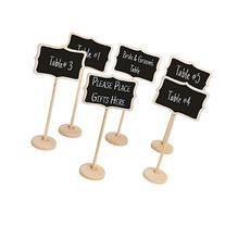 MyGift Set of 6 Freestanding Erasable Wood Chalkboard