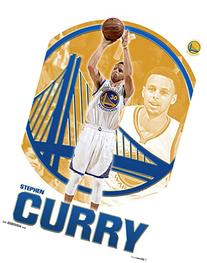 "NBA Golden State Warriors, Stephen Curry, 22"" x 34"", Wall"