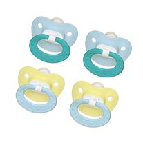 NUK Juicy Puller Silicone Pacifier in Blue and Yellow, 0-6