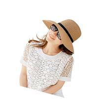 Naimo Simple Fashion Folding Women's Summer Beach Hat Straw
