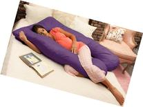 Naomi Home Cozy Body Pillow, Royal Purple