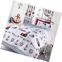 Nautical Single/US Twin Duvet & Pillowcase Set - White