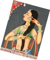 Nayika Shringara - Watercolor on Canvas