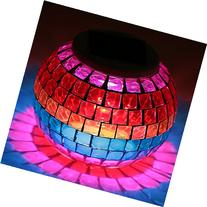 New Arrival Solar Powered Mosaic Glass Color Changing