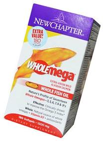 New Chapter - Wholemega Omega Extra Virgin Fish Oil 1000 mg
