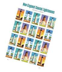 New England Coastal Lighthouses Sheet of 20 U.S. Postage
