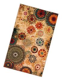 New Medallion Multi colored Area Rug 5x8,carpet,Soft Rug,