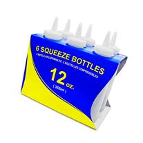 New Star Foodservice 26146 Squeeze Bottles, Plastic, 12 oz,