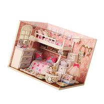 New Wooden Dollhouse Diy Miniature House DIY Kit with Cover