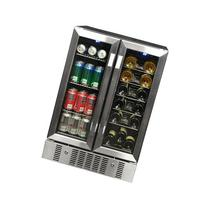 NewAir AWB-360DB 18 Bottle 60 Can Dual Zone Built-In WIne &