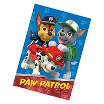 Nick Jr Paw Patrol All Paws on Deck Micro Raschel Blanket,