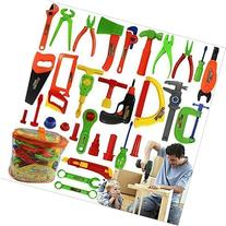 Niuniu Daddy 34-Piece Children Repair Tools Toy Set Pretend