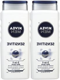Nivea For Men Body Wash - Sensitive - 16.9 oz - 2 pk