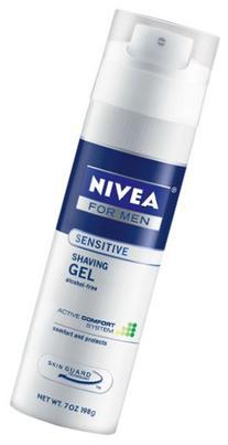 Nivea For Men Sensitive Shave Gel, 7-Ounce Canister