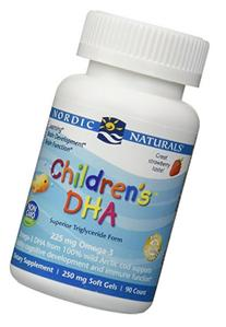 Nordic Naturals, Children's DHA, Strawberry, 250 mg, 90